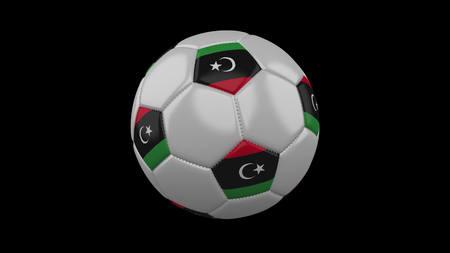 Soccer ball with flag Libya, 3d rendering football 版權商用圖片
