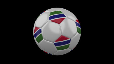 Soccer ball with flag Gambia, 3d rendering football