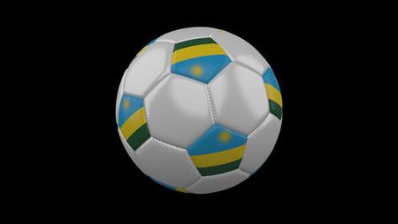 Soccer ball with flag Rwanda, 3d rendering football 版權商用圖片