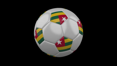 Soccer ball with flag Togolese Republic, 3d rendering football
