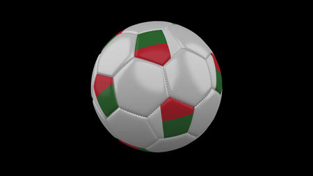 Soccer ball with flag Madagascar, 3d rendering football Imagens