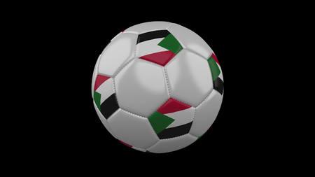 Soccer ball with flag Sudan, 3d rendering football