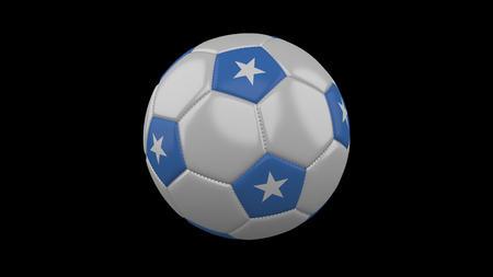 Soccer ball with flag Somalia, 3d rendering football 版權商用圖片