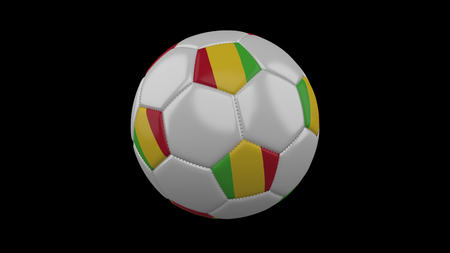Soccer ball with flag Mali, 3d rendering football