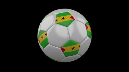 Soccer ball with flag Sao Tome and Principe, 3d rendering football