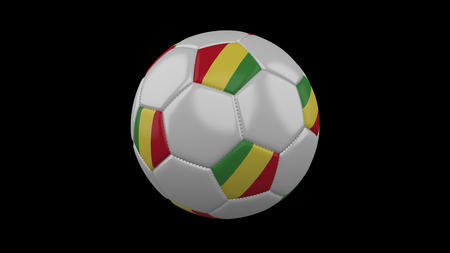 Soccer ball with flag Republic of Congo, 3d rendering football