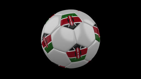 Soccer ball with flag Kenya, 3d rendering football