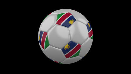 Soccer ball with flag Namibia, 3d rendering football