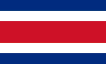 Costa Rica civil flag in official rate and colors, vector image 向量圖像
