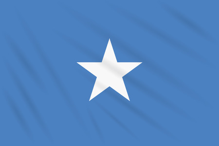 Flag Somalia swaying in wind, realistic vector
