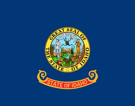 Flag of the USA State of Idaho, vector