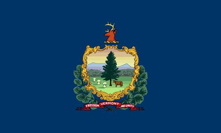 Flag of the USA State of Vermont, vector Stok Fotoğraf - 130781217