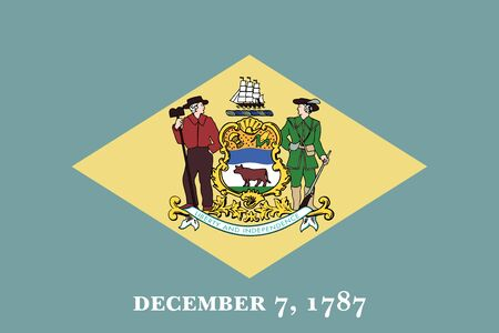 Flag of the USA State of Delaware, vector