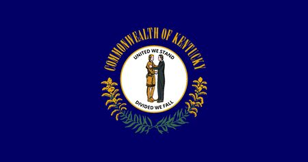 Kentucky State of America flag, vector image