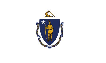 Massachusetts State of America flag, vector image