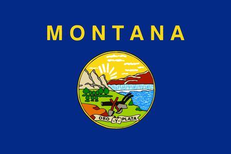 Montana State of America flag, vector image