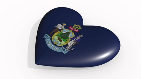 Maine heart beats and casts a shadow, 3d rendering Stok Fotoğraf - 131053299
