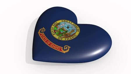 Idaho heart beats and casts a shadow, 3d rendering Stok Fotoğraf - 131053326