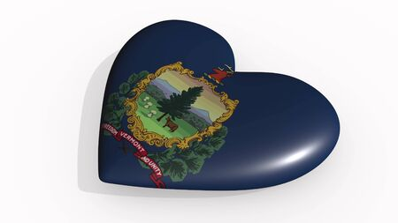 Vermont heart beats and casts a shadow, 3d rendering