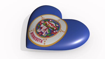 Minnesota heart beats and casts a shadow, 3d rendering Stok Fotoğraf - 131054288