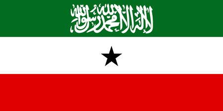 Flag of Somaliland in proportions and colors vector.