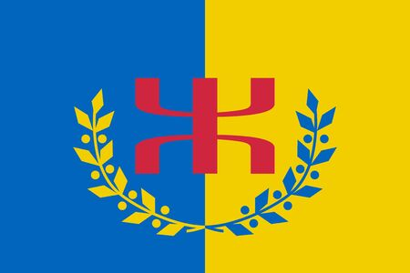 Flag of Kabylia in proportions and colors vector. Çizim