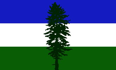 Cascadia flag in proportions and colors vector.