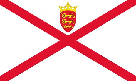Parishes of Jersey flag in proportions and colors vector.