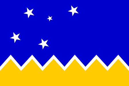 Flag of Magallanes Regionalism in proportions and colors vector Illustration