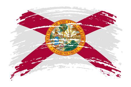 US flag in grunge brush stroke, vector image Vettoriali
