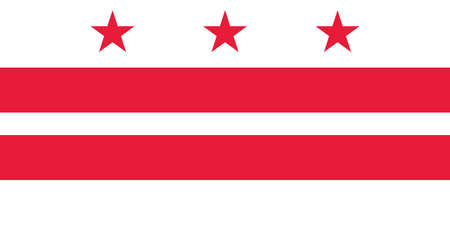 District of Columbia USA - Washington, DC flag in official proportions and color, vector