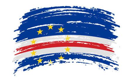 Cape Verde flag in grunge brush stroke, image