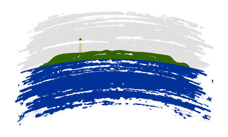 Navassa Island flag in real proportions and colors, vector 矢量图像