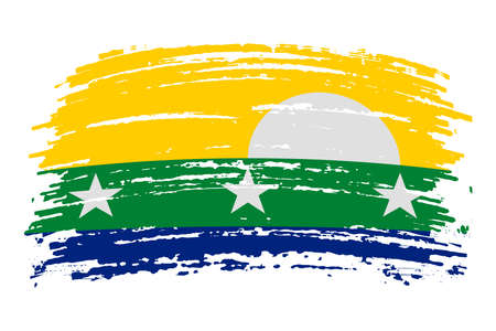 Nueva Esparta Island flag in real proportions and colors, vector