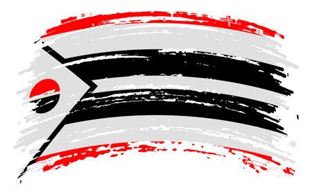Arapaho flag in grunge brush stroke, vector image