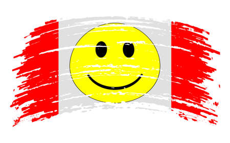 Aerican Empire Micronation flag in grunge brush stroke, vector image
