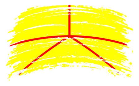 Austenasia flag in grunge brush stroke, vector
