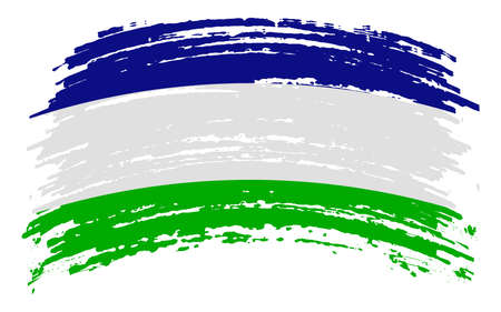 Araucania and Patagonia flag in grunge brush stroke, vector