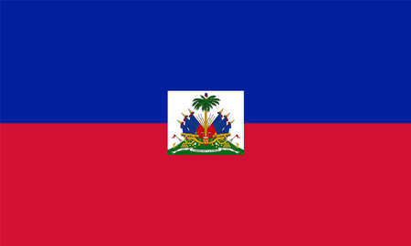 Haiti Flag In official colors and proportions, vector