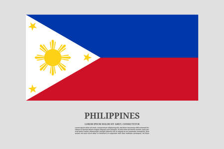 Philippines flag and information text poster, vector