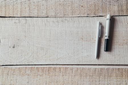 pen on office wooden table
