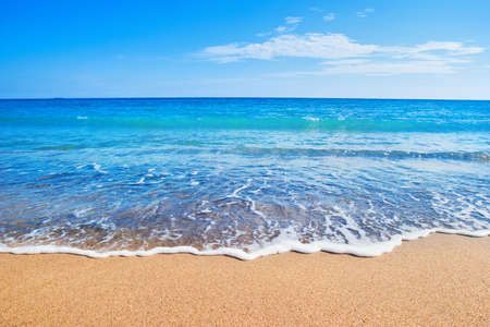 sea scenery: beach and sea