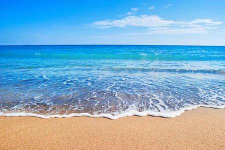 horizonte: playa y mar Foto de archivo