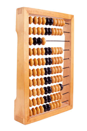 Accounting abacus isolated on white background  Stock Photo - 10332141