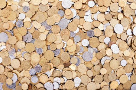 ukrainian coins background photo