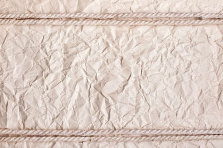 crushed paper background with rope Stock Photo - 10332163