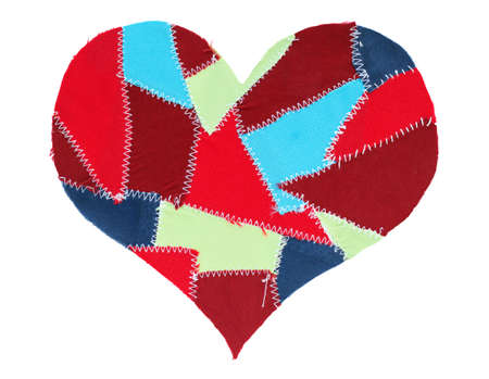 fabric scraps heart. Valentine Stock Photo - 10332271