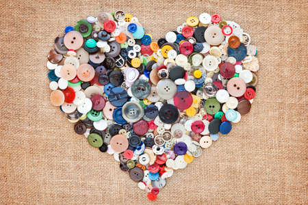 buttons heart. Valentine Stock Photo