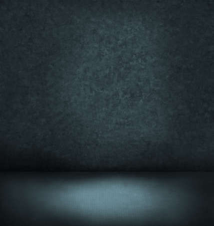 dim light: abstract blue dark interior