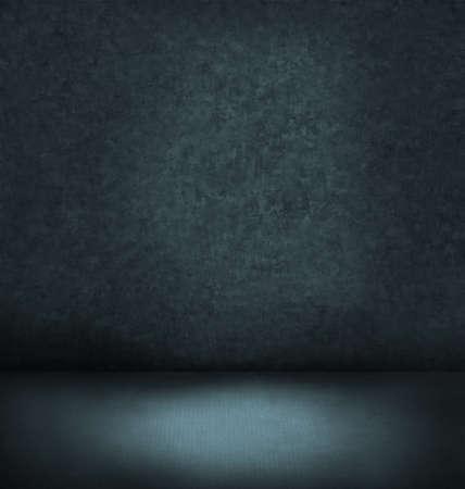 abstract blue dunklen Innenraum